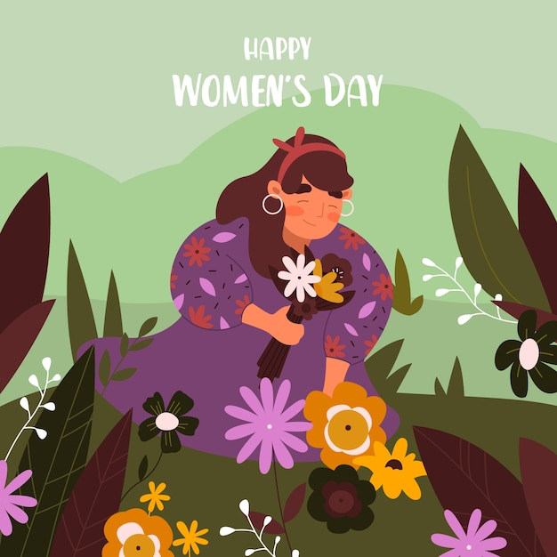 Flat design womens day celebration concept Free Vector