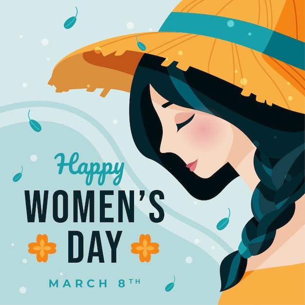 Flat design womens day celebration Free Vector