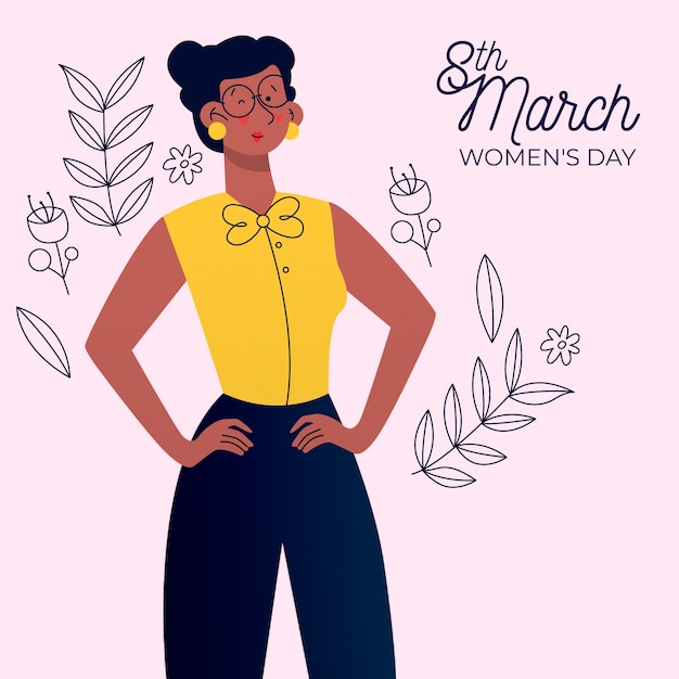 Flat design womens day event theme Free Vector