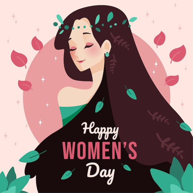 Flat design womens day movement Premium Vector