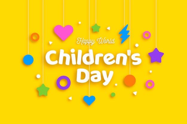 Giornata mondiale dei bambini di design piatto Vettore gratuito