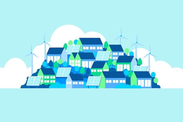 Giornata mondiale dell'habitat design piatto Vettore gratuito