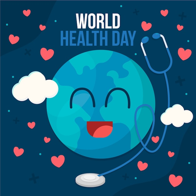Flat design world health day concept Free Vector