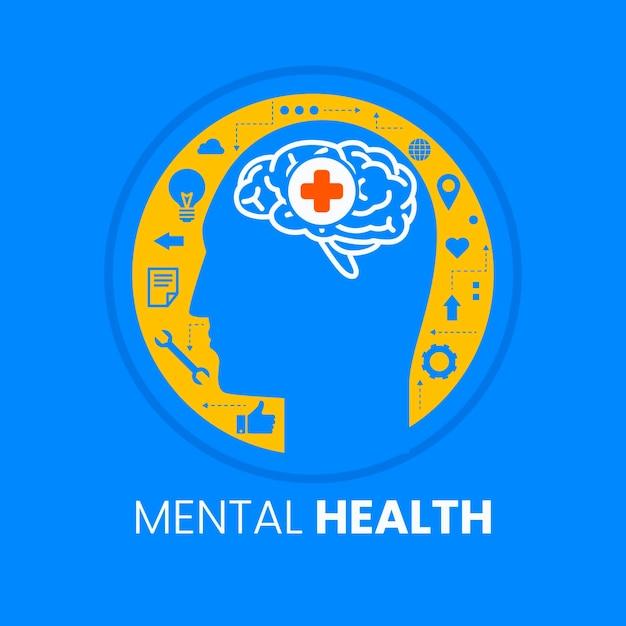 Free Vector Flat Design World Mental Health Day