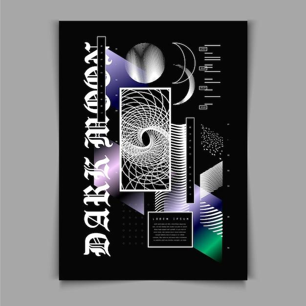 Modello di poster y2k design piatto Vettore gratuito