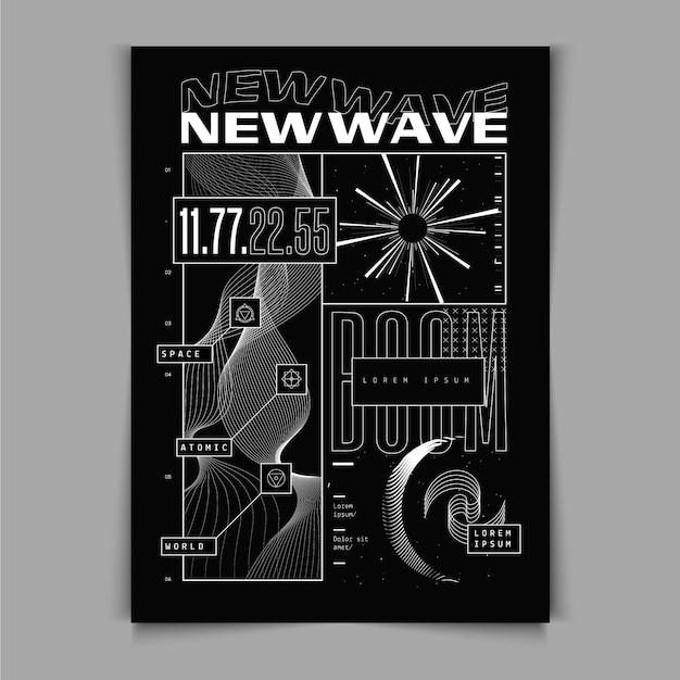 Design piatto del poster y2k Vettore gratuito
