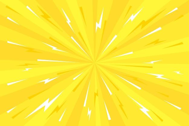 평면 디자인 노란색 만화 벽지 무료 벡터