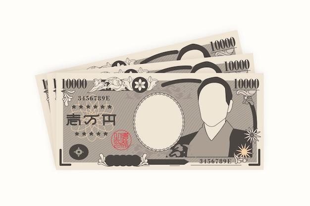 Flat design yen banknotes Free Vector