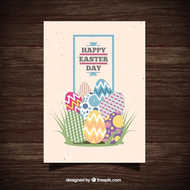 تخت تخم مرغ عید پاک کارت پستال