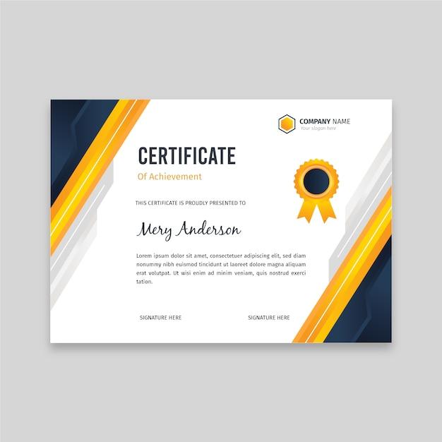 Flat elegant certificate template Premium Vector