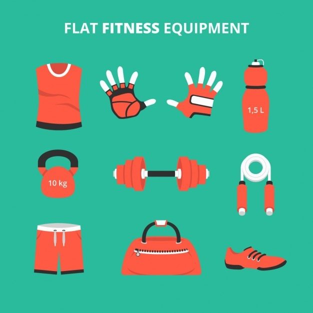 Flat fitness equipment collection