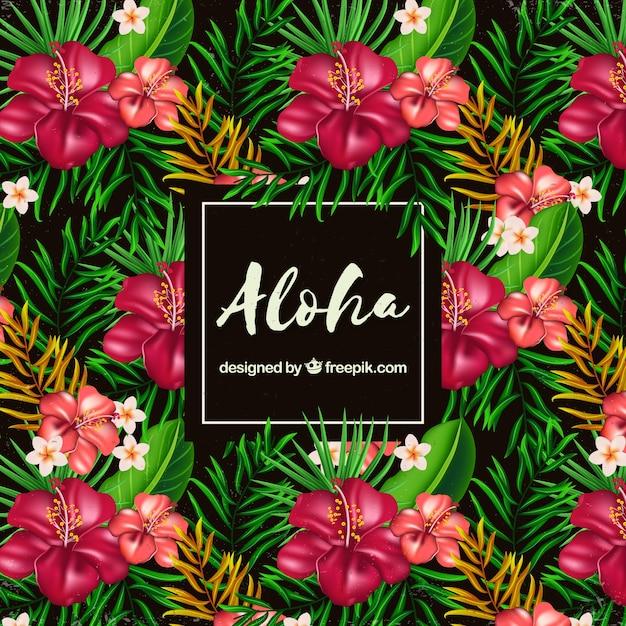 download vector flat flowers aloha background vectorpicker