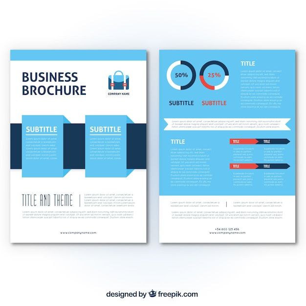 Flat flyer template for business Vector – Azure Flyer Template