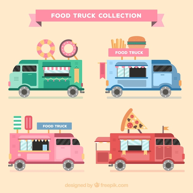 Flat food trucks with lovely style
