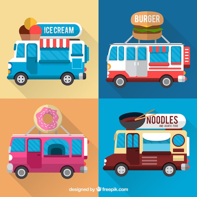 Flat food van collection