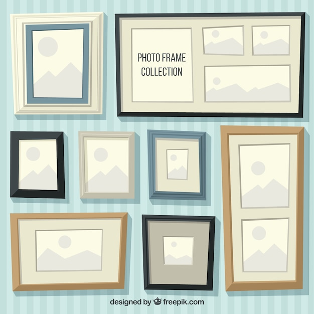 Flat Frames Collection Vector | Free Download