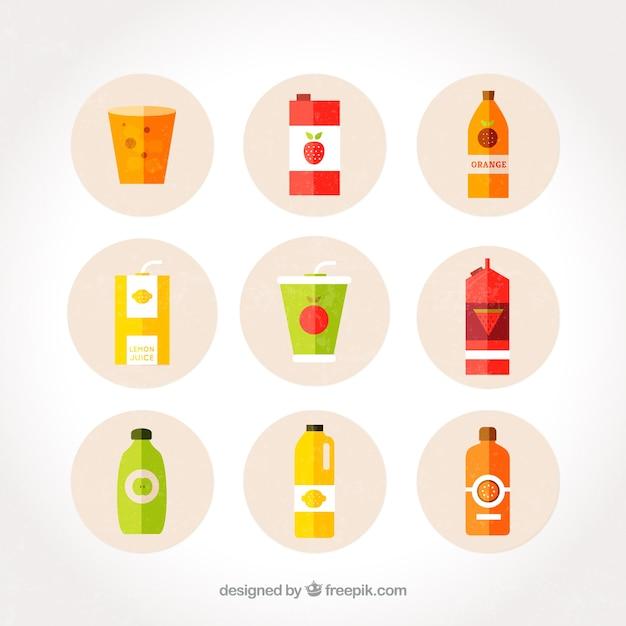 Flat fruit juices pack