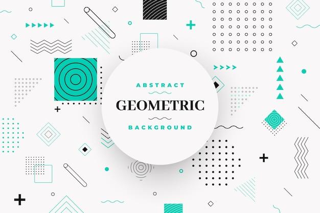 Flat geometric models background Free Vector