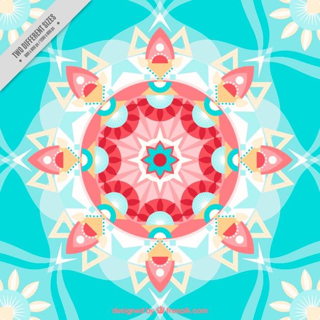 Piatto forme geometriche sfondo Vettore gratuito