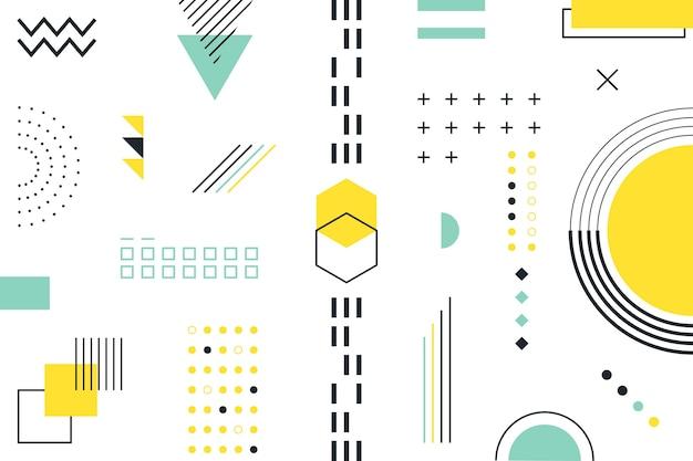 Flat geometric shapes background Premium Vector