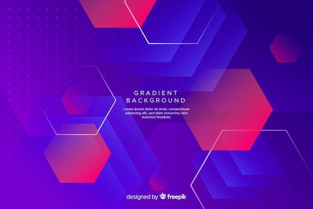 Flat gradient geometric shapes background Free Vector