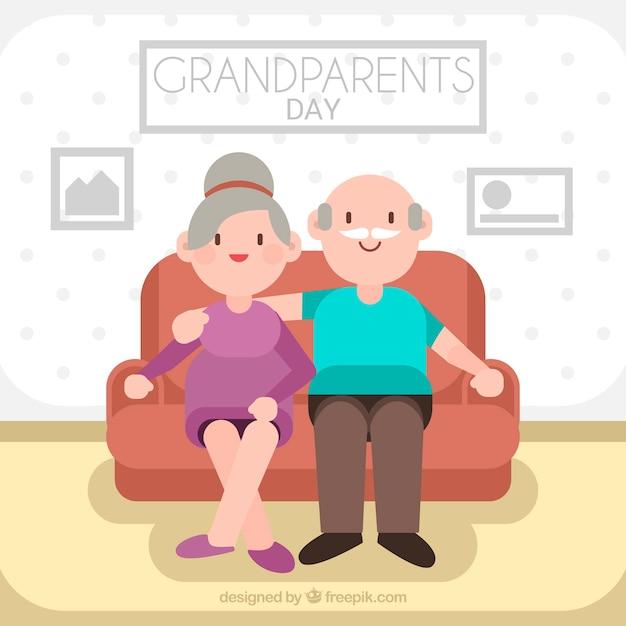 Flat grandparents day design in living room