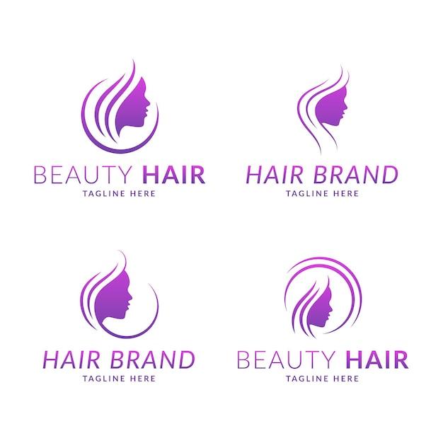 Коллекция логотипов парикмахерской Бесплатные векторы