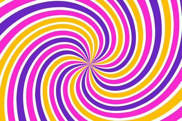 Flat-hand drawn psychedelic groovy background Free Vector
