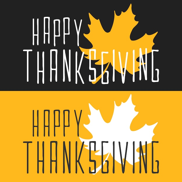 Flat happy thanksgiving poster card Premium Vector
