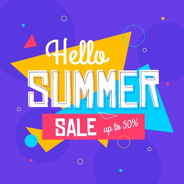 Saldi piatti estate vendita Vettore gratuito