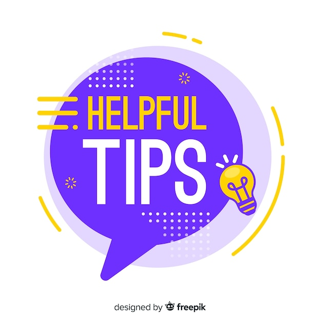 Flat helpful tip colorful background Free Vector