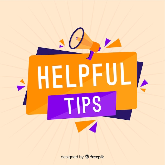 Helpful tips concept in flat style Vector | Free Download