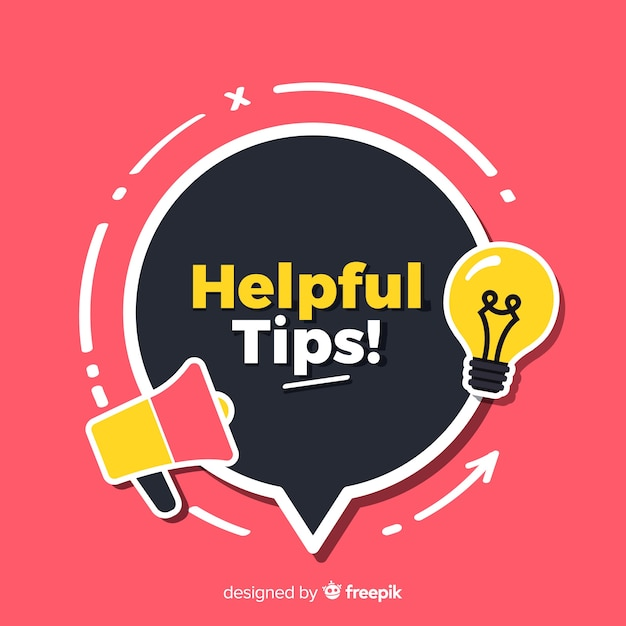 Flat helpful tips concept Free Vector