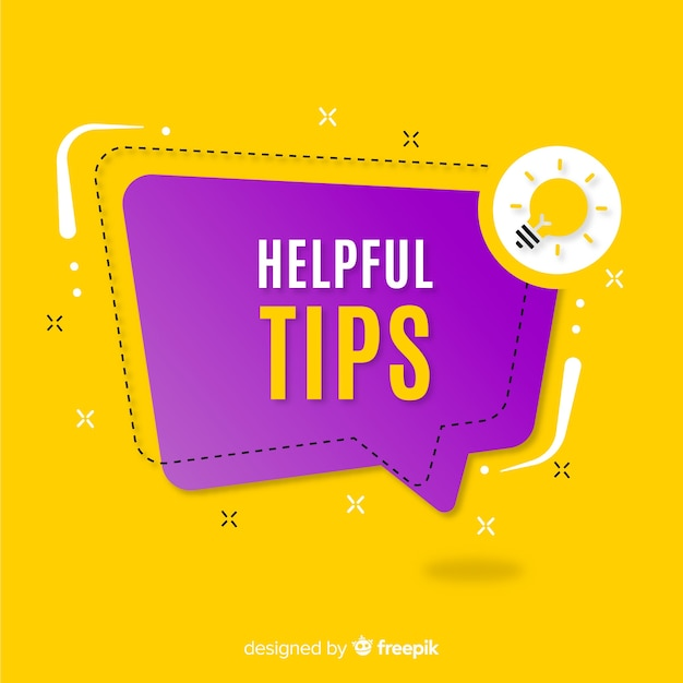 Flat helpful tips Free Vector
