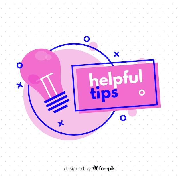 Flat helpful tips Free Vector