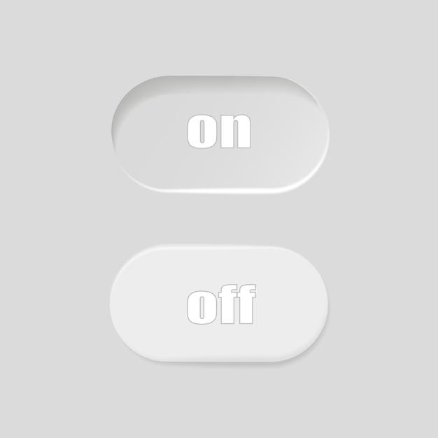 フラットアイコンオンとオフスイッチボタンのベクトル形式を切り替えます Premiumベクター