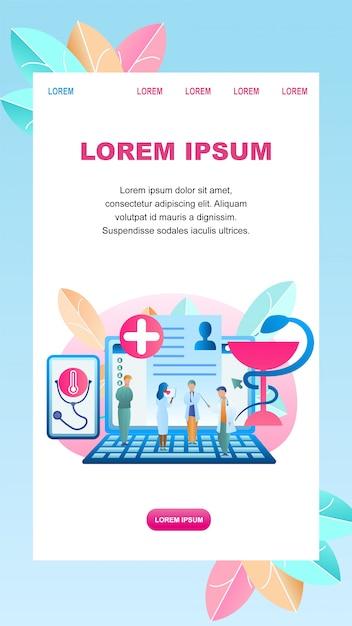 Flat illustration online diagnosis disease patient Premium Vector