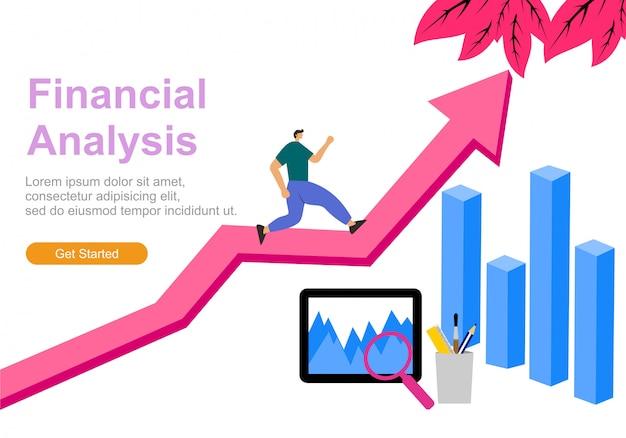 Flat illustration web analytics Premium Vector