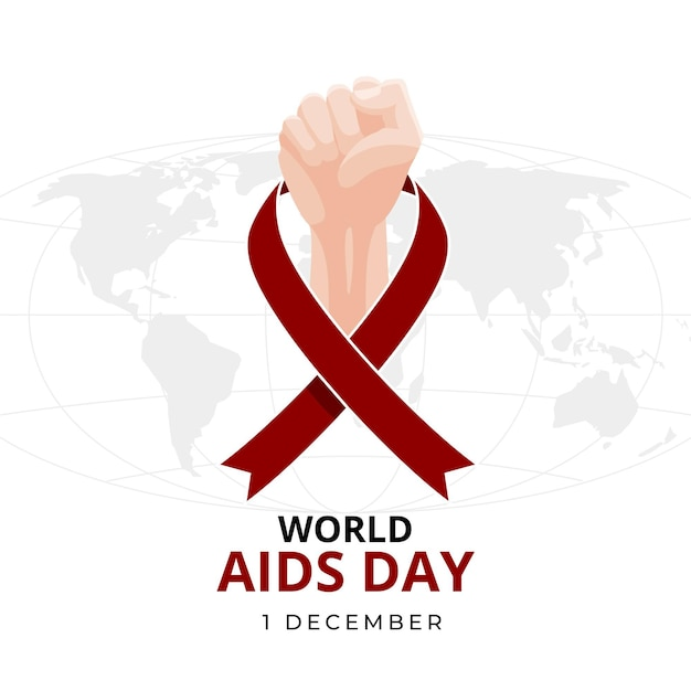 Flat illustration of world aids day event Premium Vector