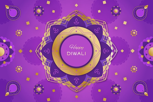 Flat illustrations diwali celebration Free Vector