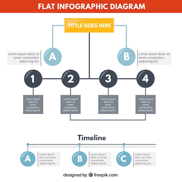 Flat infographic diagram vector free download flat infographic diagram free vector ccuart Images