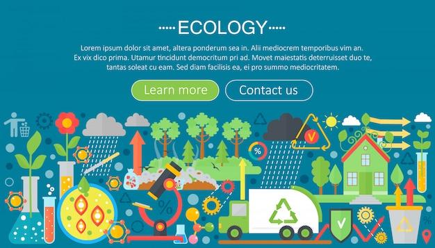 Flat infographic ecology concept Premium Vector