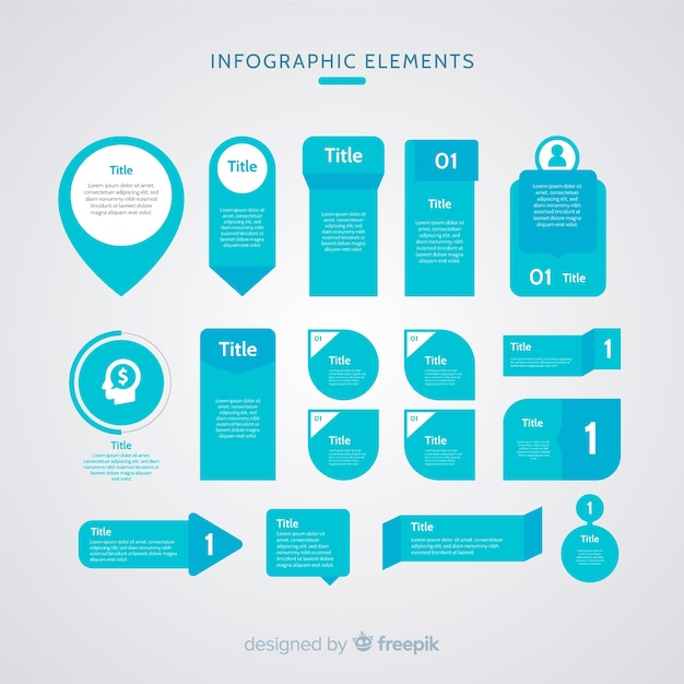 Flat infographic element Free Vector