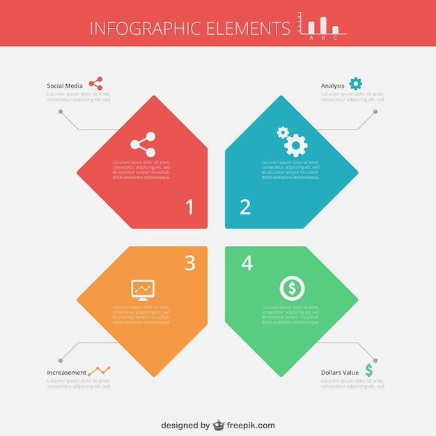 infographic template free download - flat infographic template vector free download