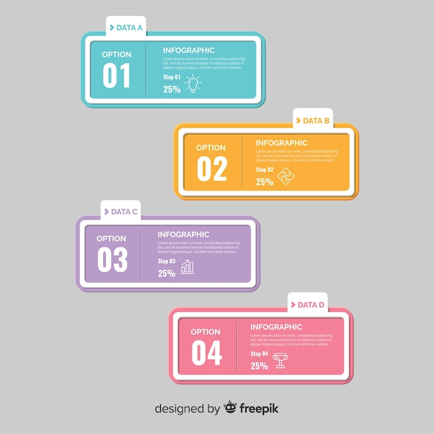 Flat infographic Free Vector