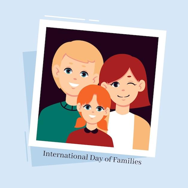 Giornata internazionale piatta delle famiglie Vettore gratuito