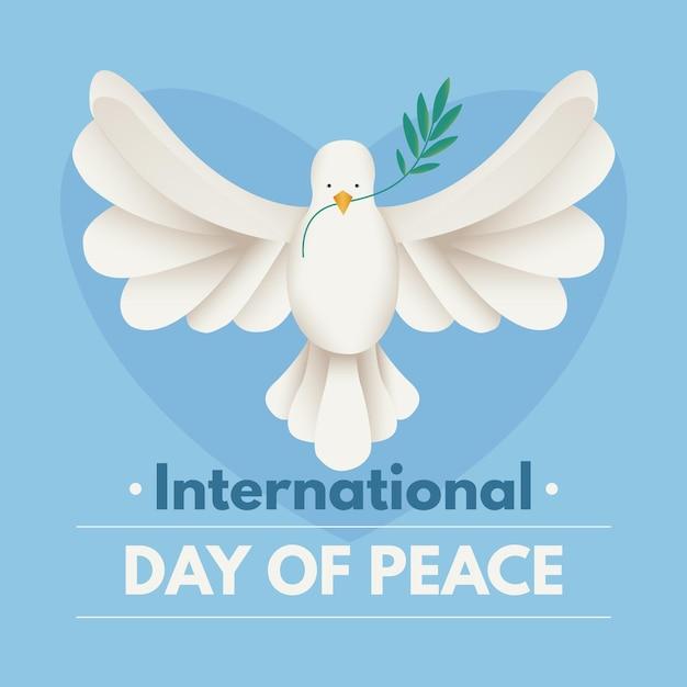 平穏な国際平和デー 無料ベクター