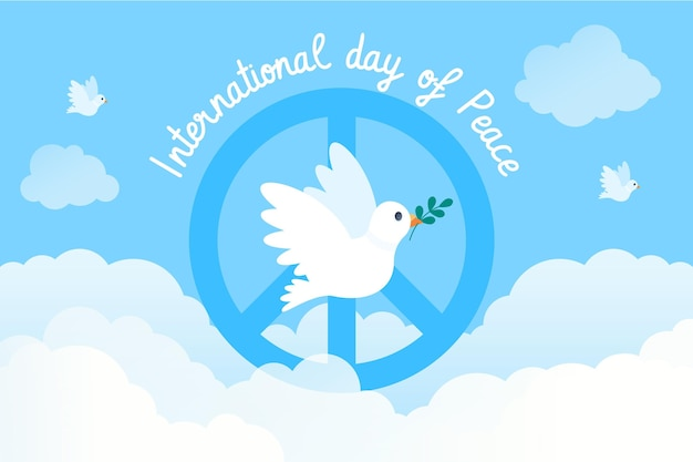 Giornata internazionale piatta della pace Vettore gratuito
