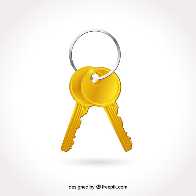 Flat key background Free Vector