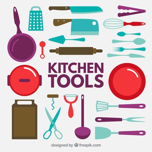 Flat Kitchen Tool Icon Collection Part 94